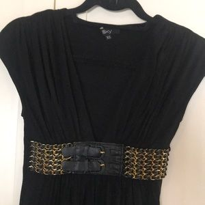 Sky XS tunic style top with chain belt waist